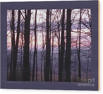 Wood Print featuring the photograph Early Morning Hues by Patricia Overmoyer