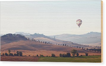 Early Morning In Tuscany Wood Print by Lena Khachina