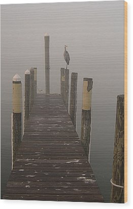 Early Morning On The Dock Wood Print