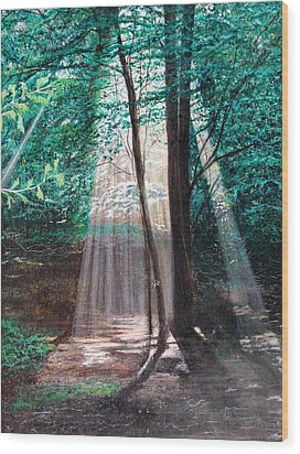 Wood Print featuring the painting Early Morning Sunrise by Stuart B Yaeger
