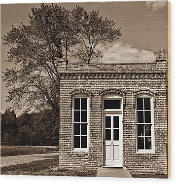 Early Office Building Wood Print by Douglas Barnett