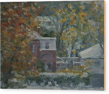 Early Snow Hartford Wood Print