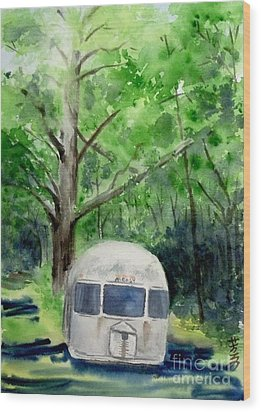 Wood Print featuring the painting Early Summer At The Geddes Farm 1 --ann Arbor  Michigan by Yoshiko Mishina