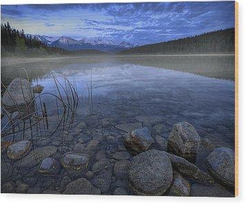 Early Summer Morning On Patricia Lake Wood Print by Dan Jurak
