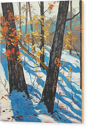 Early Winter Wood Print by Graham Gercken