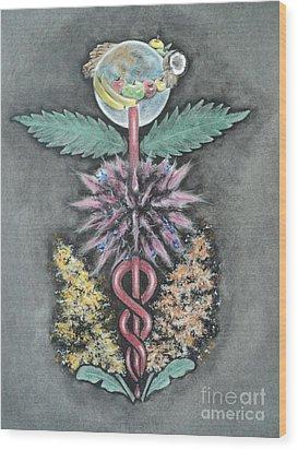 Earth Angel Wood Print by Carla Carson