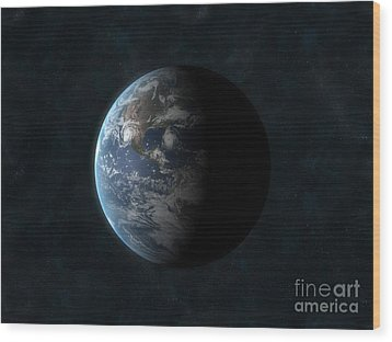 Earth Wood Print by Carbon Lotus