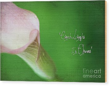 Earth Laughs In Flowers Wood Print by Darren Fisher