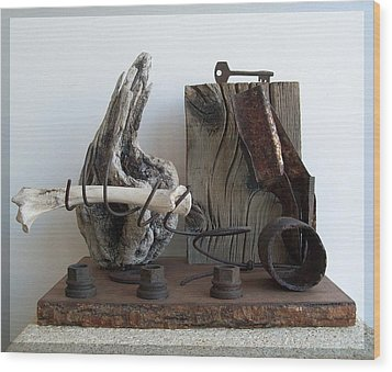 Earth Radio Wood Print by Snake Jagger