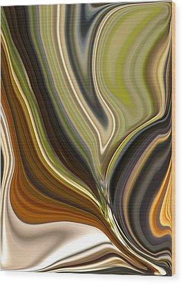 Earth Tones Wood Print by Renate Nadi Wesley