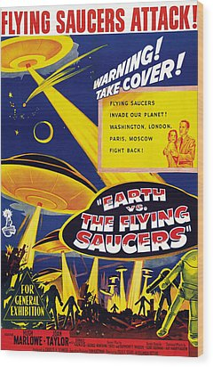 Earth Vs. The Flying Saucers, Joan Wood Print by Everett
