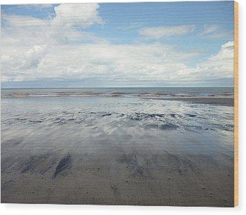 East Coast Seascape Wood Print by Sarah Couzens
