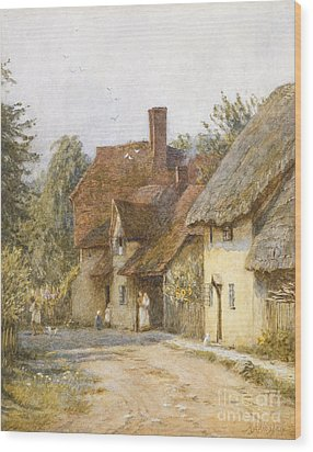 East Hagbourne Berkshire Wood Print by Helen Allingham