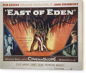 East Of Eden, James Dean, Lois Smith Wood Print by Everett