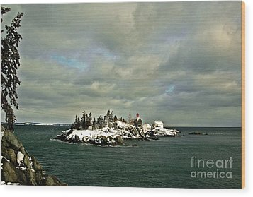 East Quoddy Lighthouse Wood Print by Alana Ranney