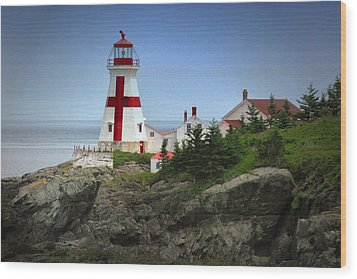 East Quoddy Lighthouse Wood Print by Robert Wicker