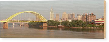 East Side Pano Wood Print by Keith Allen