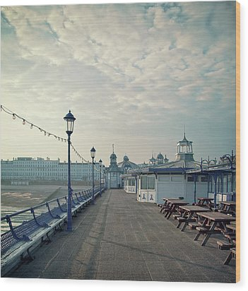 Eastbourne Pier Promenade Wood Print by Paul Grand Image