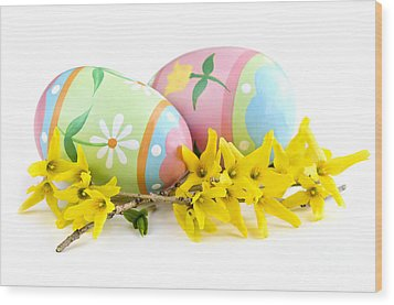 Easter Eggs Wood Print by Elena Elisseeva