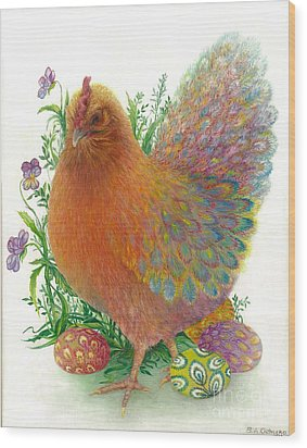 Easter Hen / Sold Wood Print