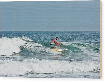 Wood Print featuring the photograph Easy Surfing  by Ann Murphy