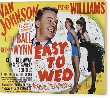 Easy To Wed, Van Johnson, Esther Wood Print by Everett