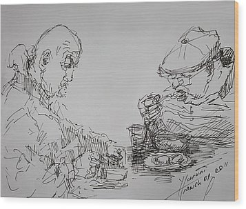 Eaters Wood Print by Ylli Haruni