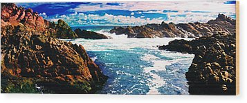 Ebbing Tide Wood Print by Phill Petrovic