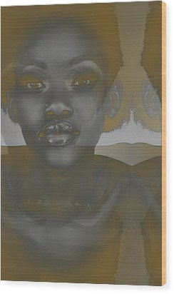 Ebony Wood Print by Naxart Studio