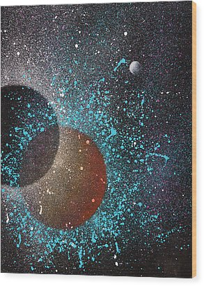 Eclipse Wood Print by Reina Cottier
