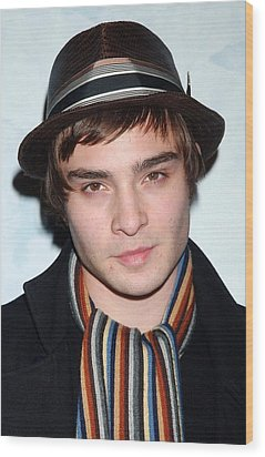 Ed Westwick At Arrivals For Opening Wood Print by Everett