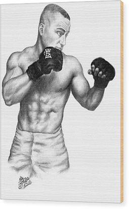 Eddie Alvarez - Bellator Champion Wood Print by Audrey Snead