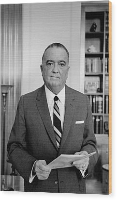 Edgar J. Hoover Director Of The Fbi Wood Print by Everett