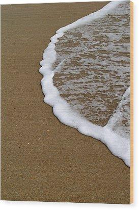 Edge Of The Ocean Wood Print by Jeremy Allen