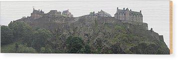 Wood Print featuring the photograph Edinburgh Castle by David Grant