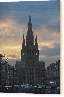 Wood Print featuring the photograph Edinburgh Cathedral by Rod Jones
