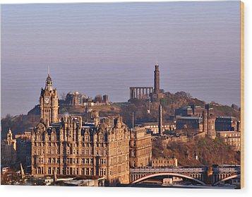 Edinburgh Scotland - A Top-class European City Wood Print by Christine Till