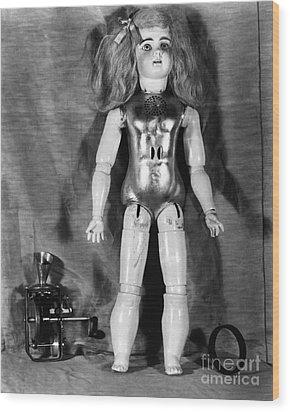 Edison: Talking Doll, C1890 Wood Print by Granger