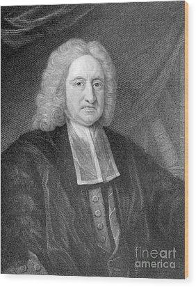 Edmond Halley, English Polymath Wood Print by Photo Researchers