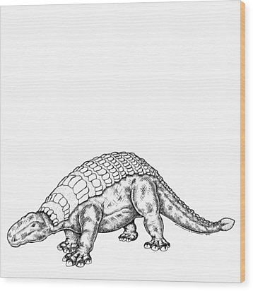 Edmontonia - Dinosaur Wood Print by Karl Addison