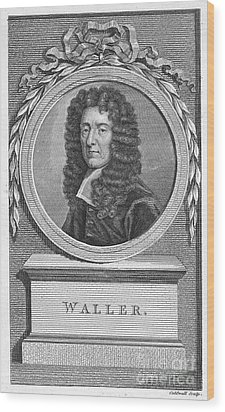 Edmund Waller (1606-1687) Wood Print by Granger
