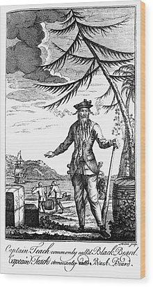 Edward Teach (?-1718) Wood Print by Granger