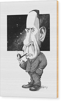 Edwin Hubble, Us Astronomer Wood Print by Gary Brown