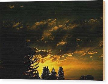 Eerie Evening Wood Print by Kevin Bone