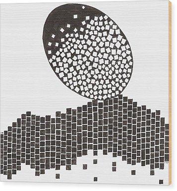 Egg Drawing 019901 Wood Print