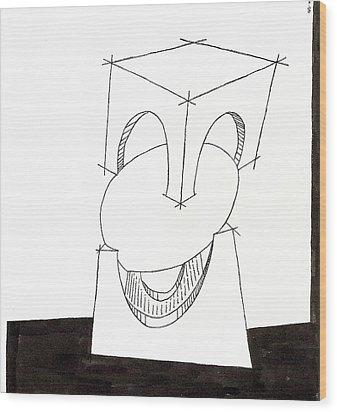 Egg Drawing 030009 Wood Print