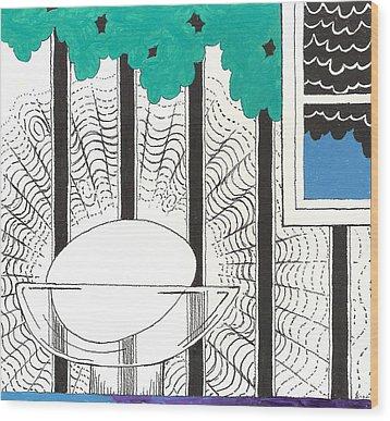 Egg Drawing 040249 Wood Print