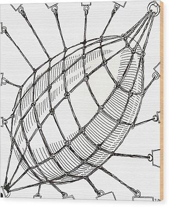 Egg Drawing 049618 Wood Print