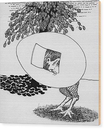 Egg Drawing 070245 Wood Print