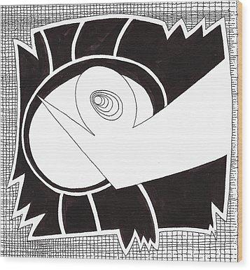 Egg Drawing 079725 Wood Print